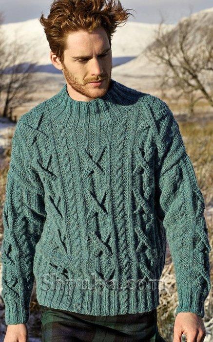 Вязание спицами для мужчин модные модели с описанием 38