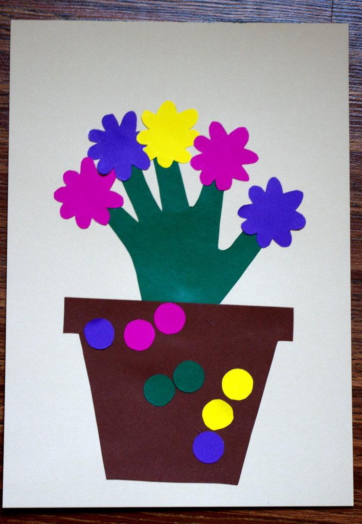 Открытка к 8 марта своими руками для детей 3 года