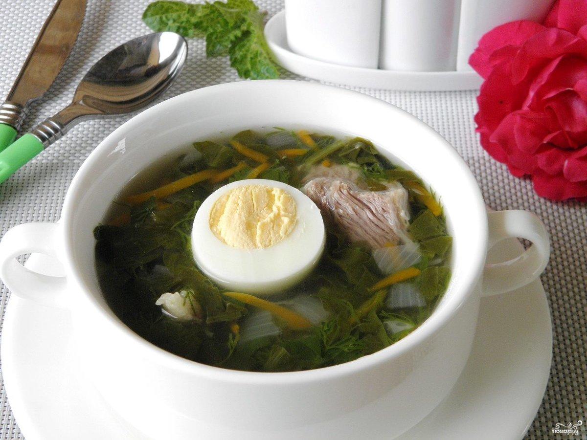 Как сварить суп из щавеля с яйцом по классическому рецепту.