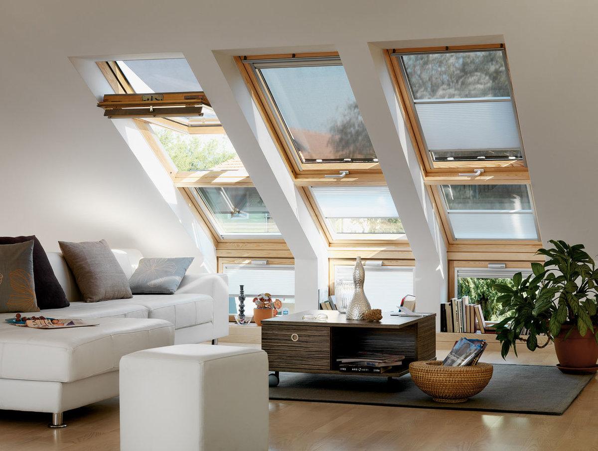 дома с мансардными окнами