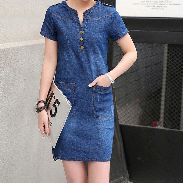 Идеи джинсового платья