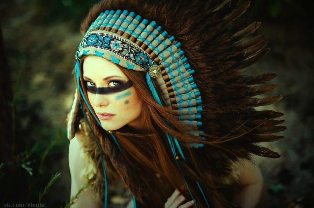 фотосессии в образе индейцев рвение