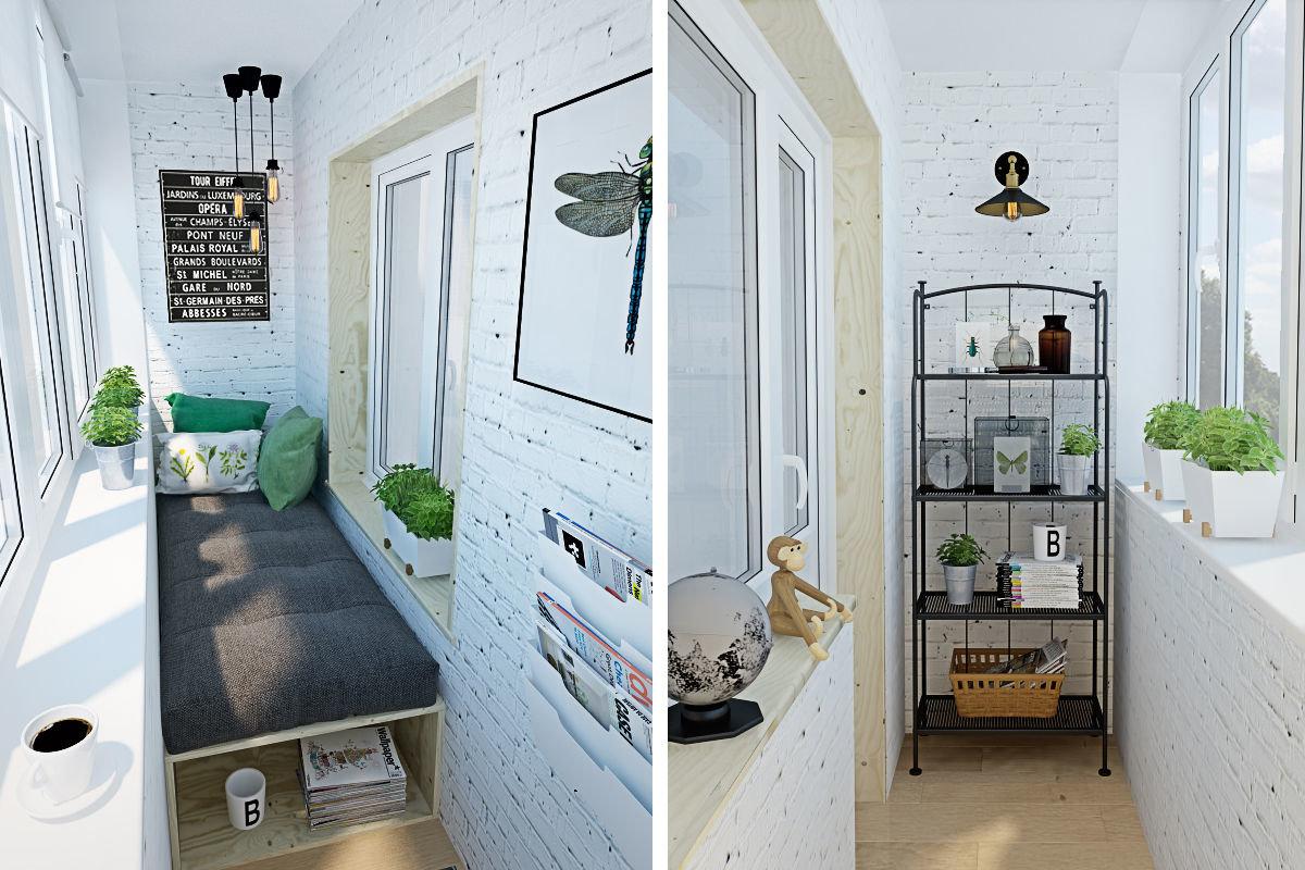 Дизайн интерьера балкона и лоджии (50 фото) - стильные идеи .