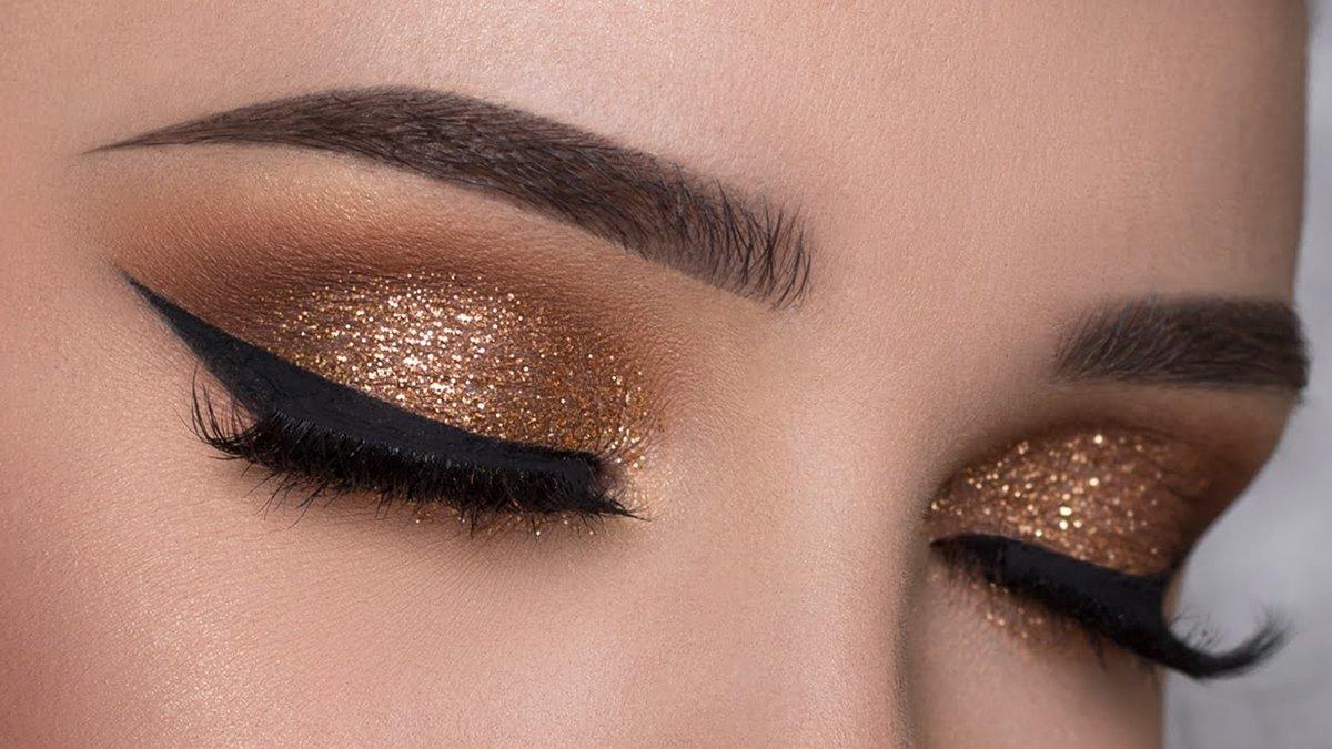 Easy Copper Glitter Smokey Eye Makeup Tutorial Youtube Easy Copper