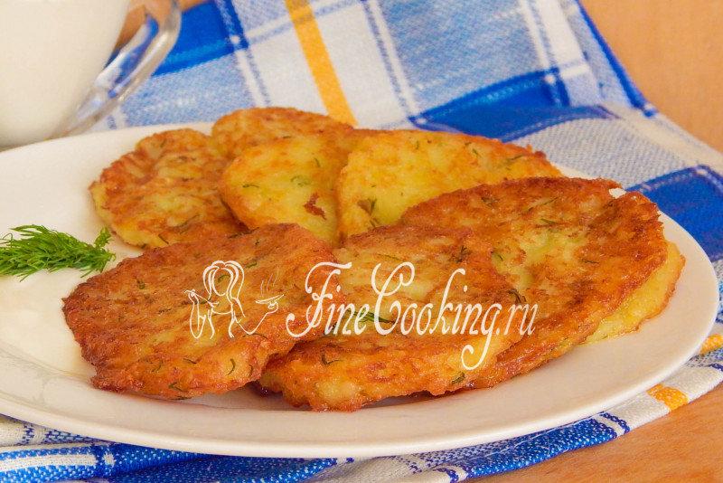 Картофельные оладьи с мясом рецепт с фото