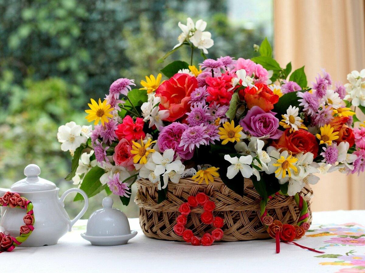 Красивые фото с букетами цветов