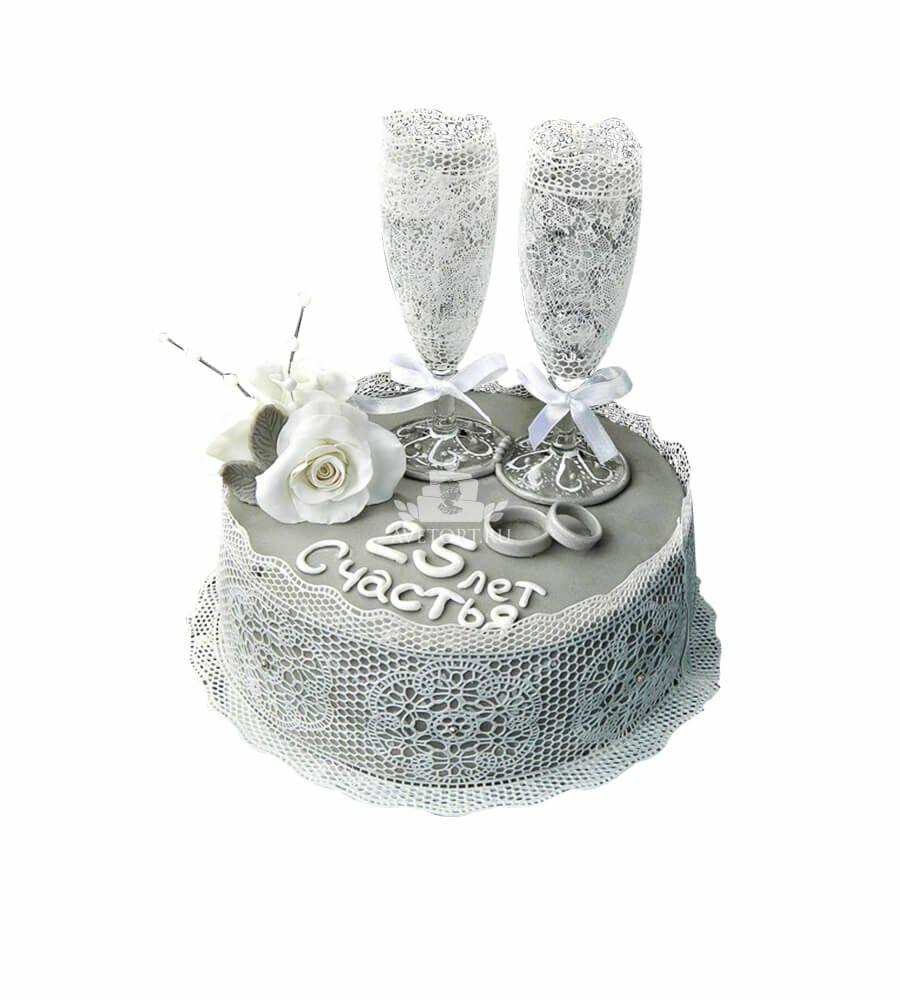 серебряная свадьба торты картинки чжу красивая