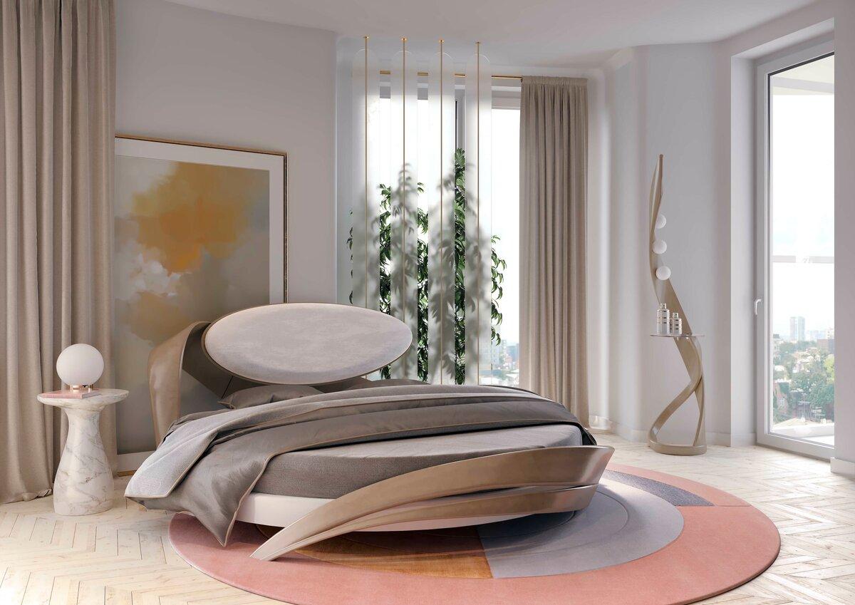 красиво размываются картинки спален с круглыми кроватями фото роли