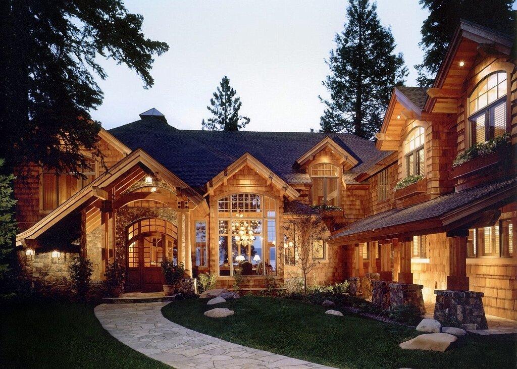 Большие деревянные дома картинки