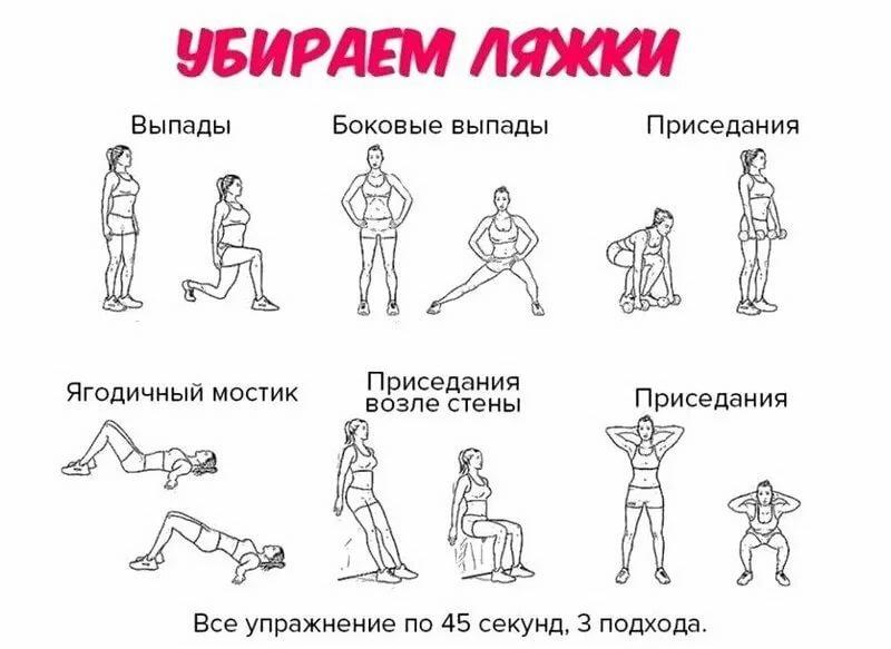 Упражнения В Картинках Чтобы Похудела Попа.