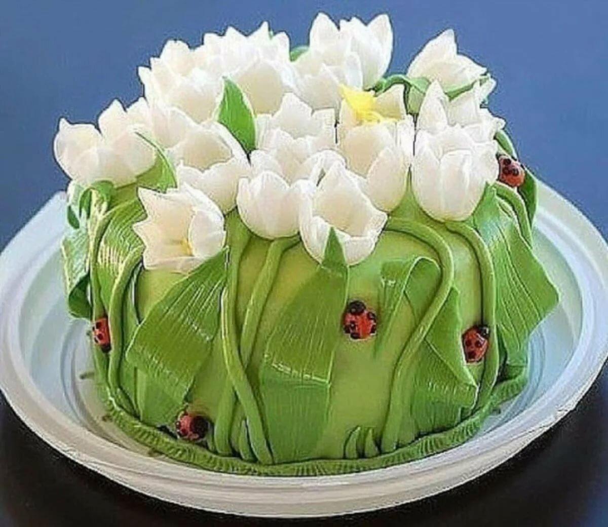 Самые красивые торты цветы фото