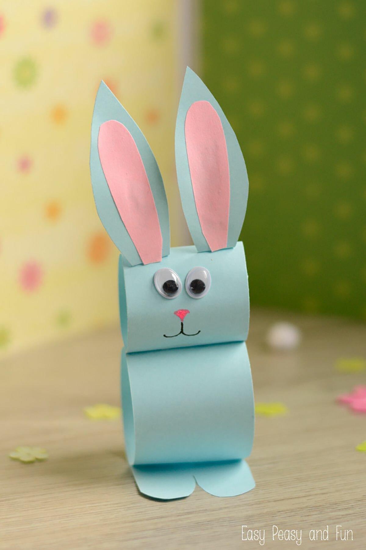 Зайца из бумаги в картинках