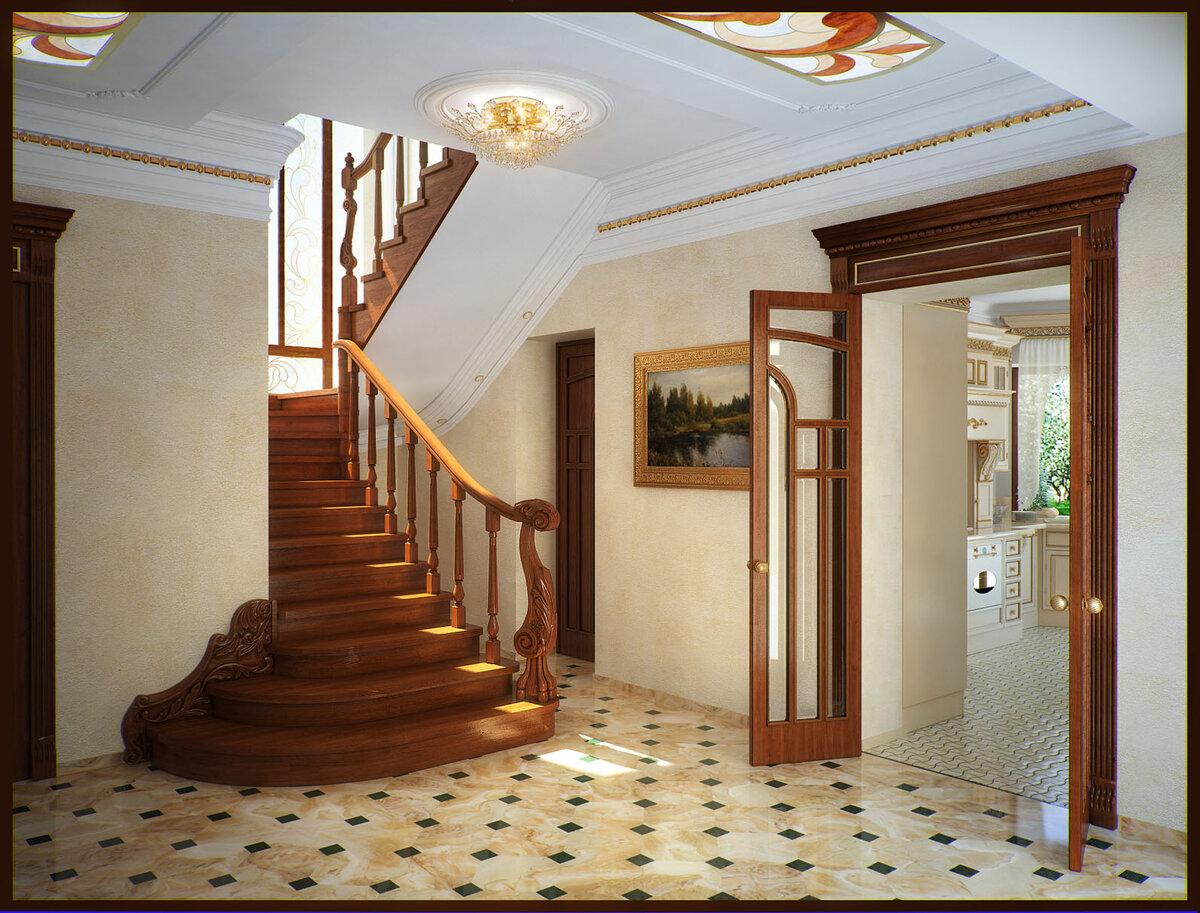 фото дизайн холла дома на втором этаже снимок показывает