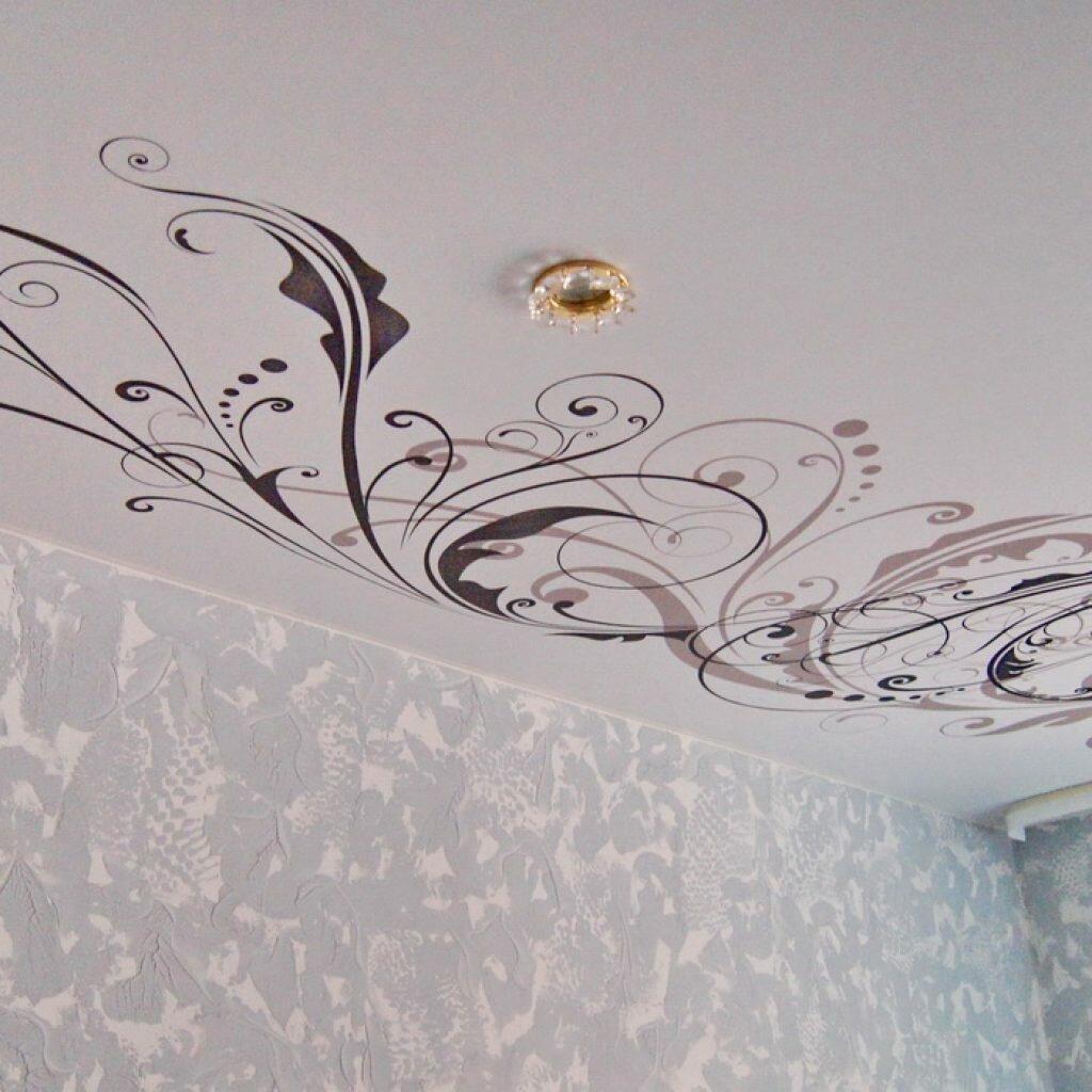 разных картинки с узорами на потолок раз