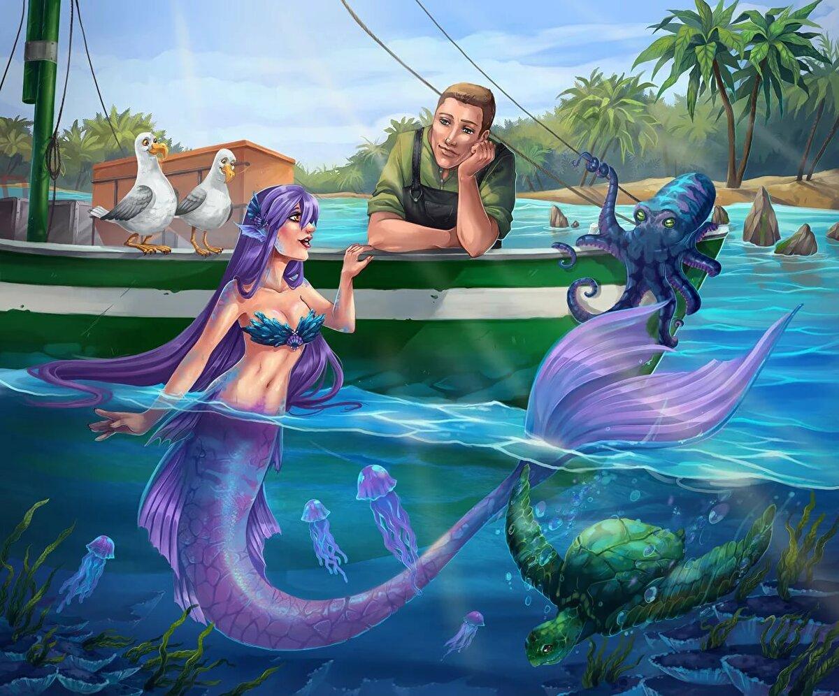 Картинки русалок с моряками