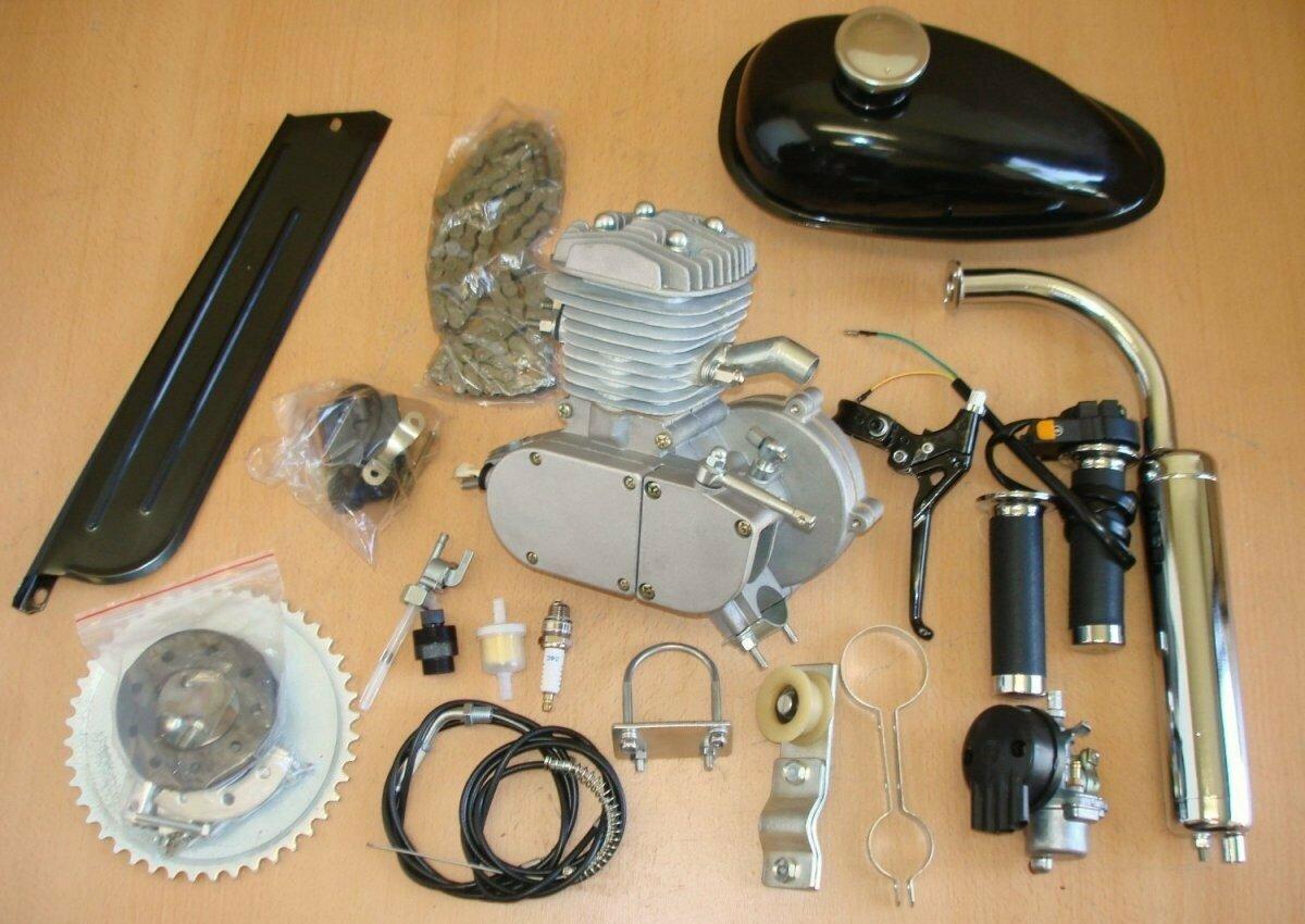 Бензиновый двигатель для велосипеда F80