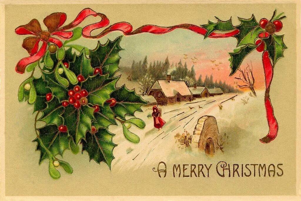 открытки в английском стиле с новым годом душанбе воскресенье сдан