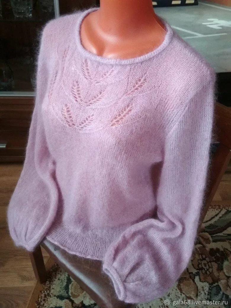 свитер из кид мохера спицами фото использую маскировку