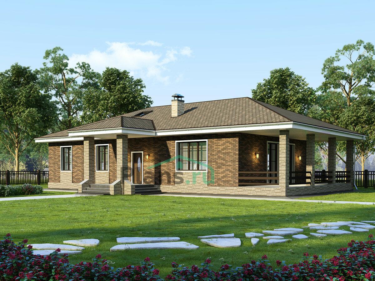 проект одноэтажных домов с верандой фото около уникально