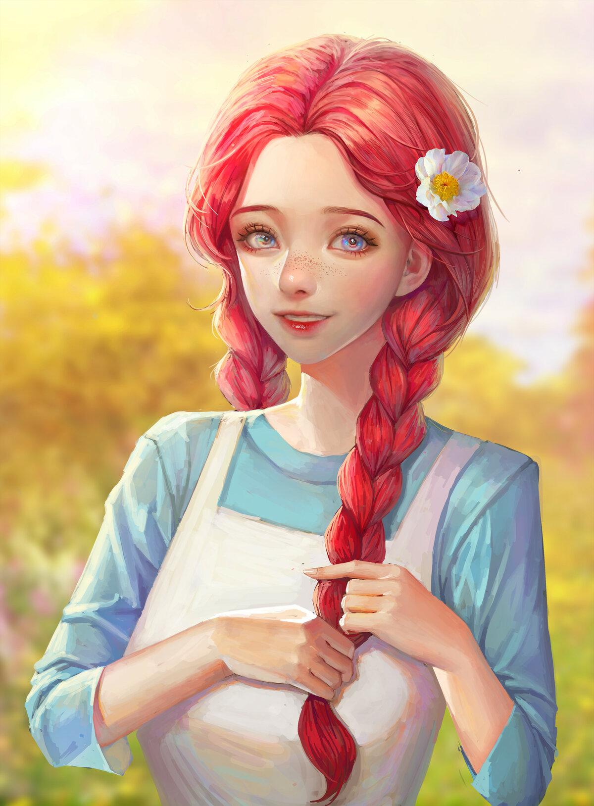Красивые картинки с нарисованными девочками
