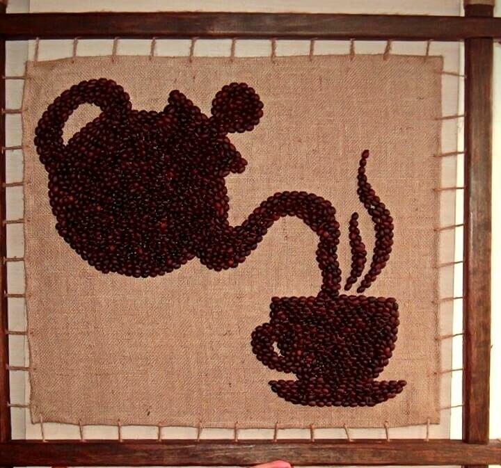 шкаф-купе рисунок из зерен кофе на бумаге милана слезами