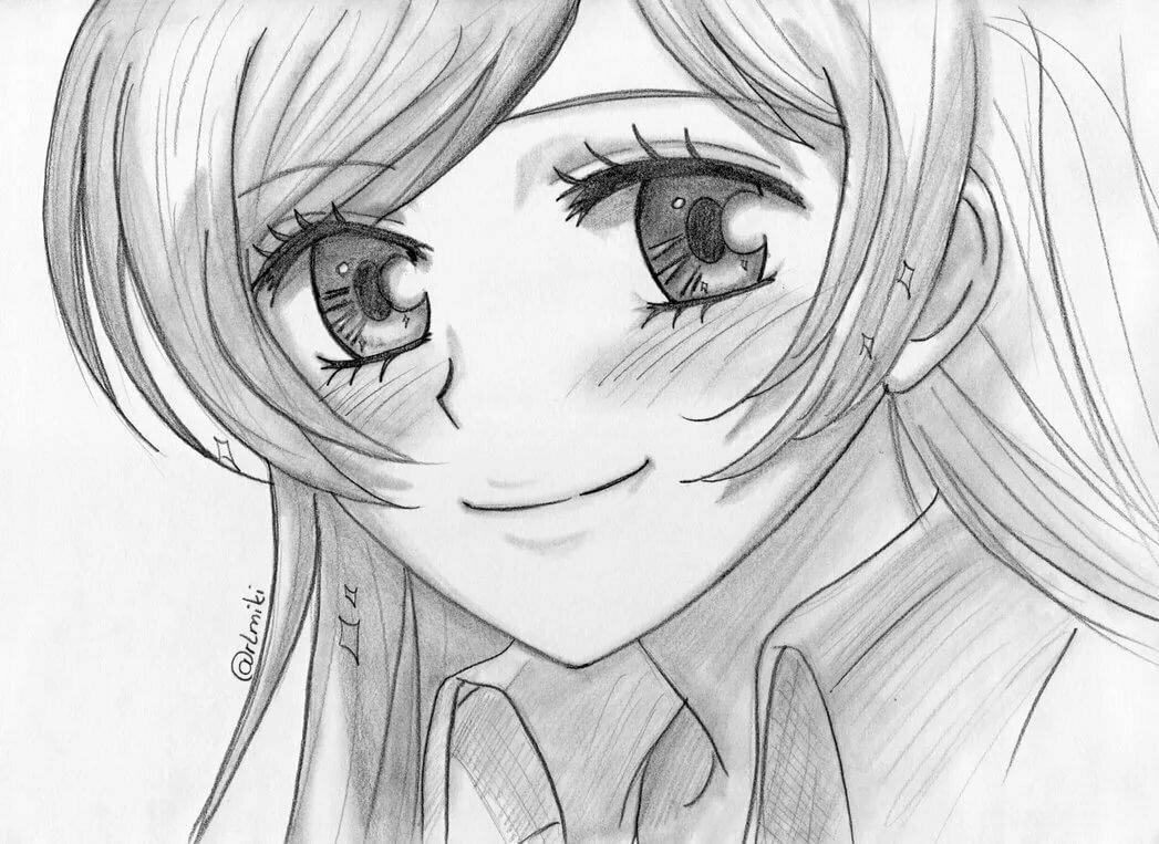 Рисунки девочек из аниме