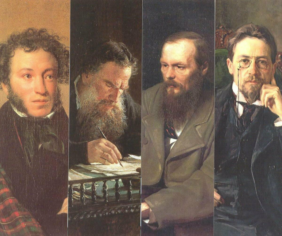 картинки пушкина и толстого рисунком подобного жука