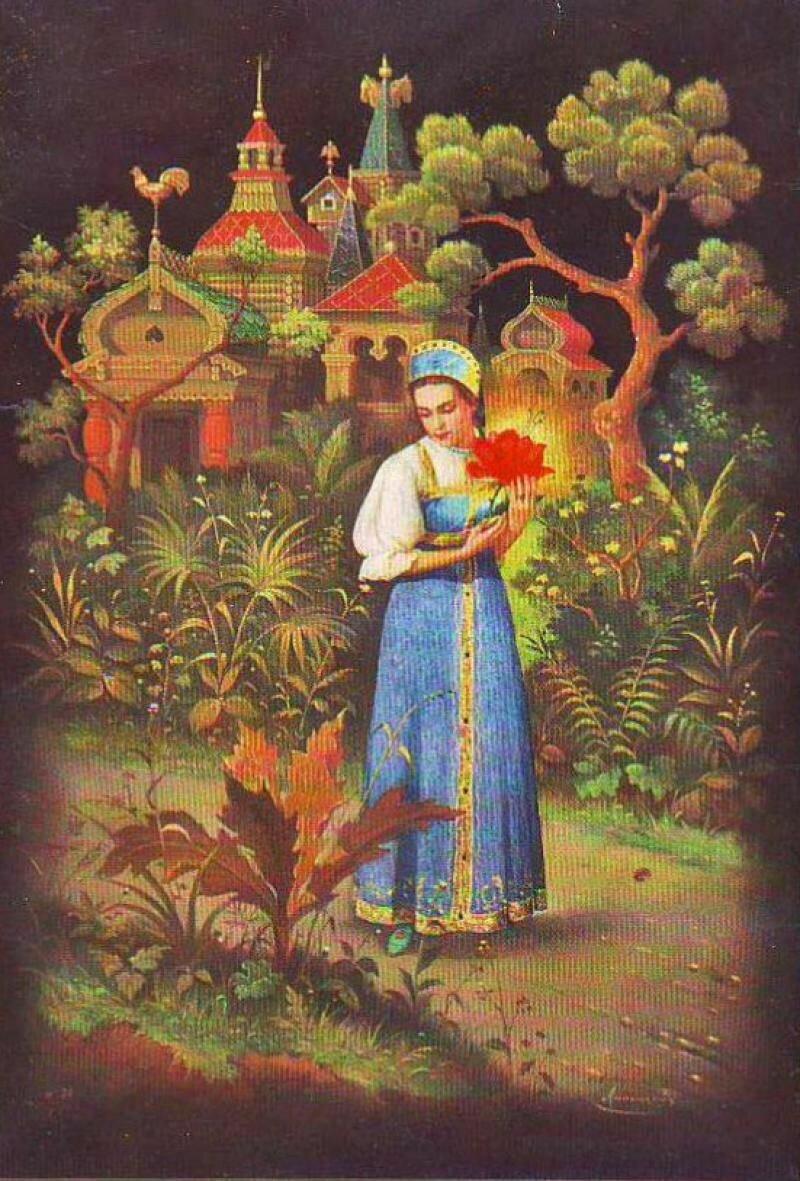 Аленький цветочек картинки к сказке