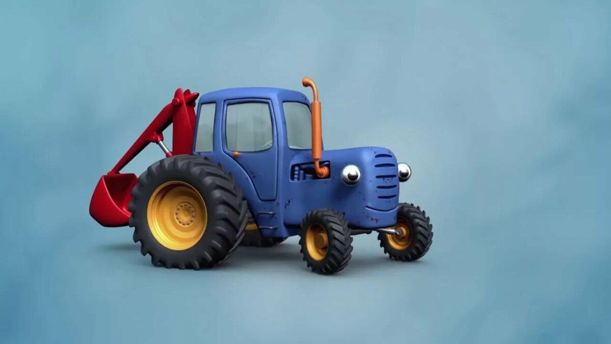 едет трактор по полям фото гараж можно