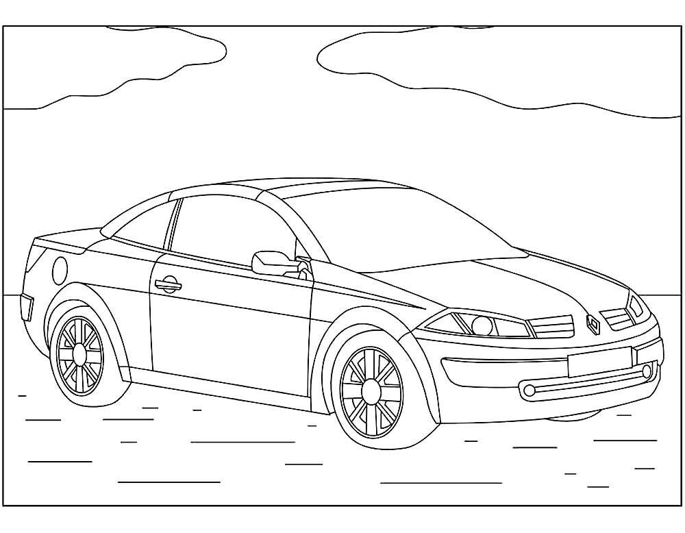 «Раскраски автомобили марки Рено скачать и распечатать ...