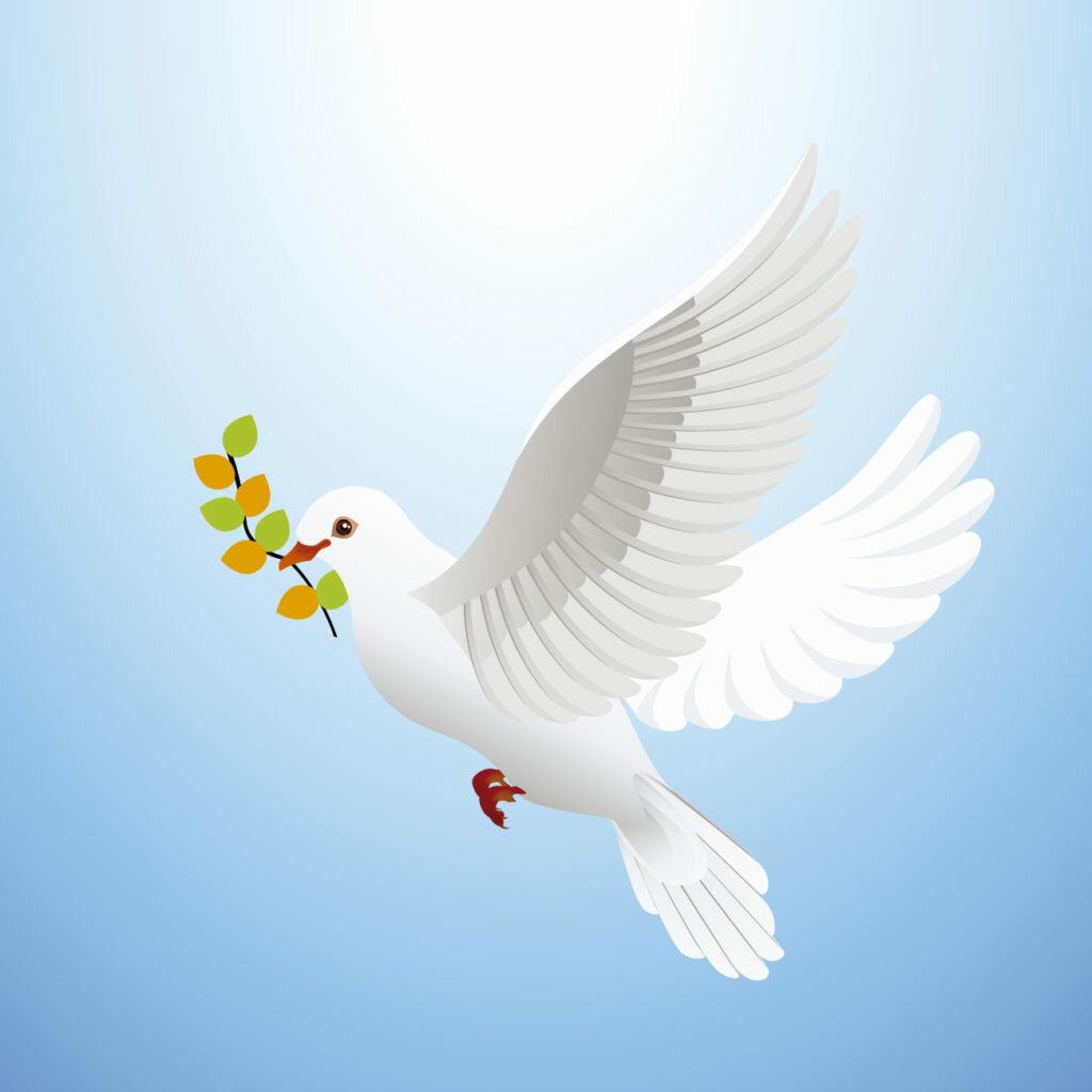 Голуби символ мира открытка