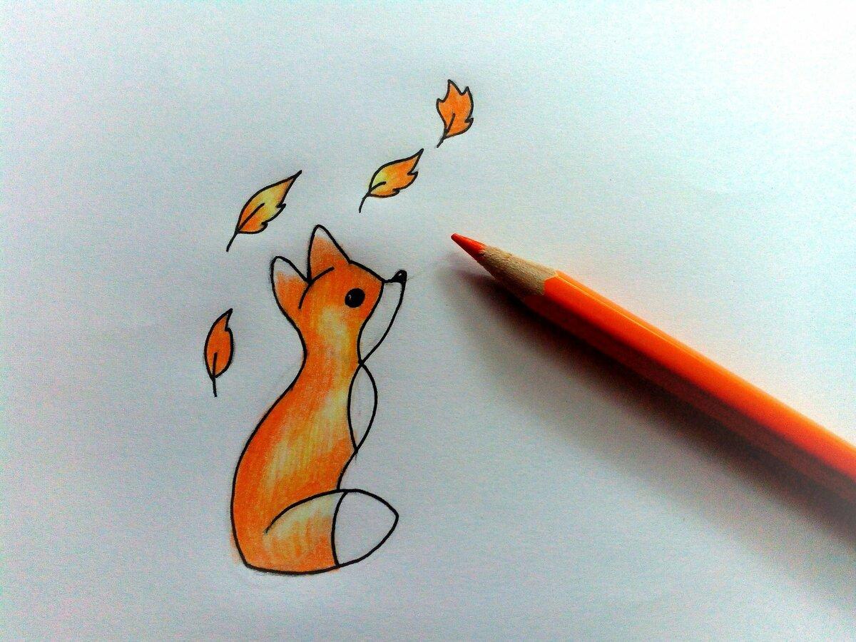 Легкие но красивые картинки для рисования