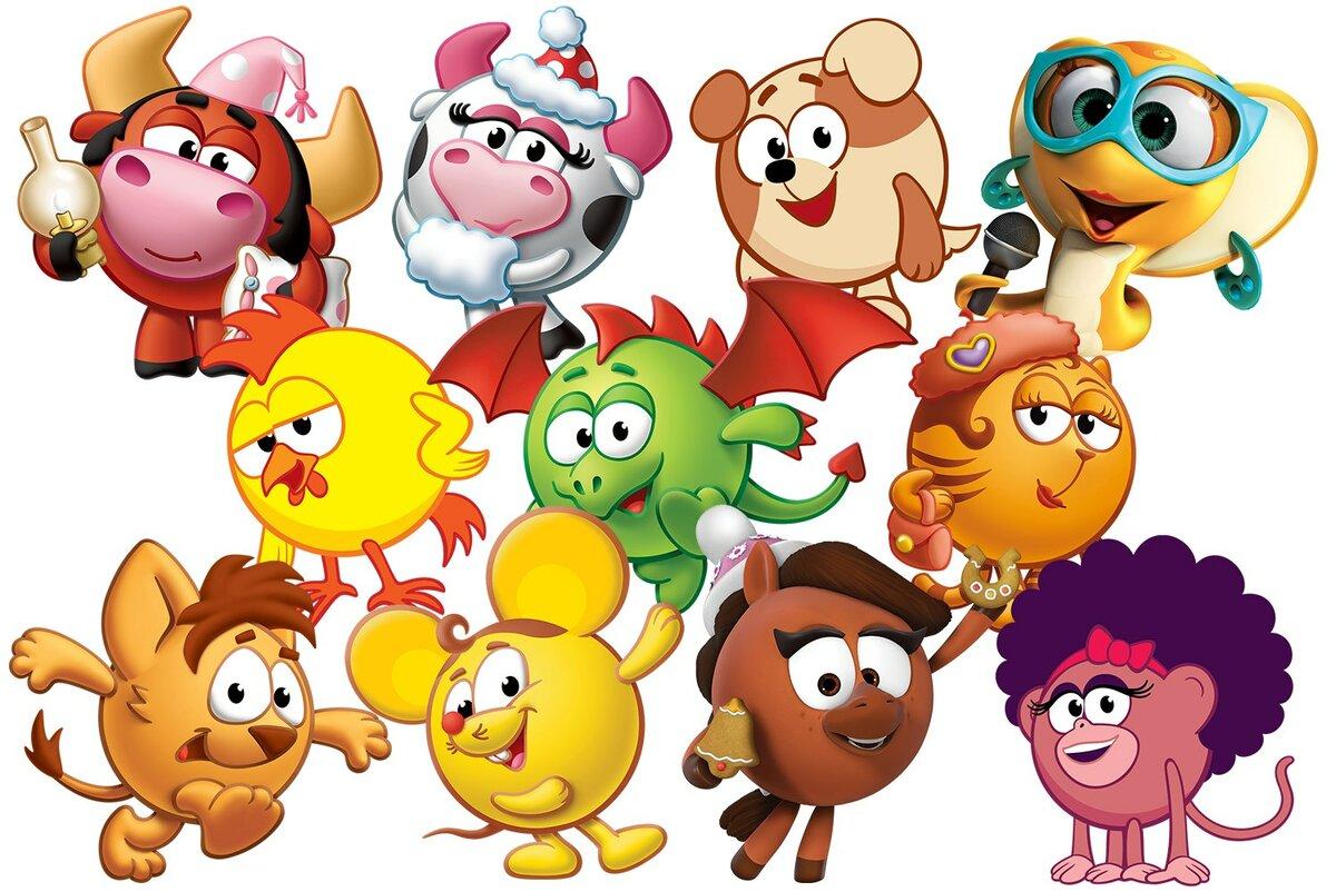 Картинки персонажей из мультиков смешарики