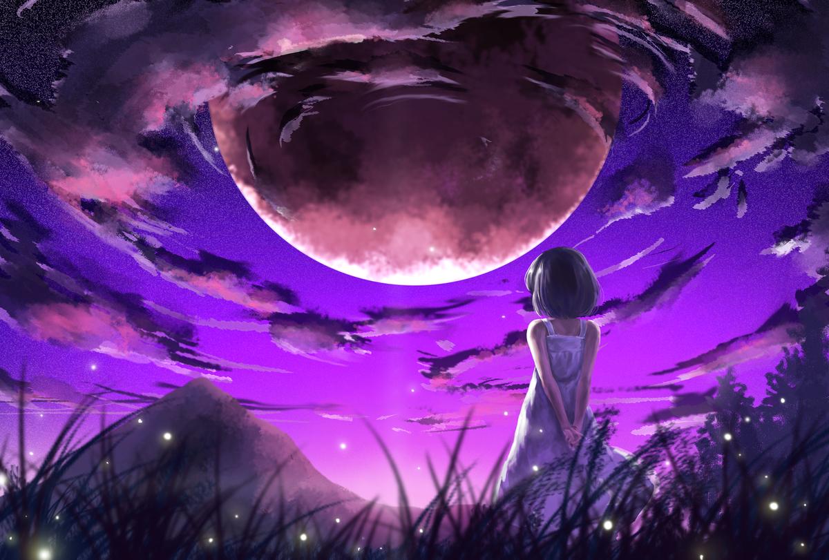 Красивые картинки аниме космоса