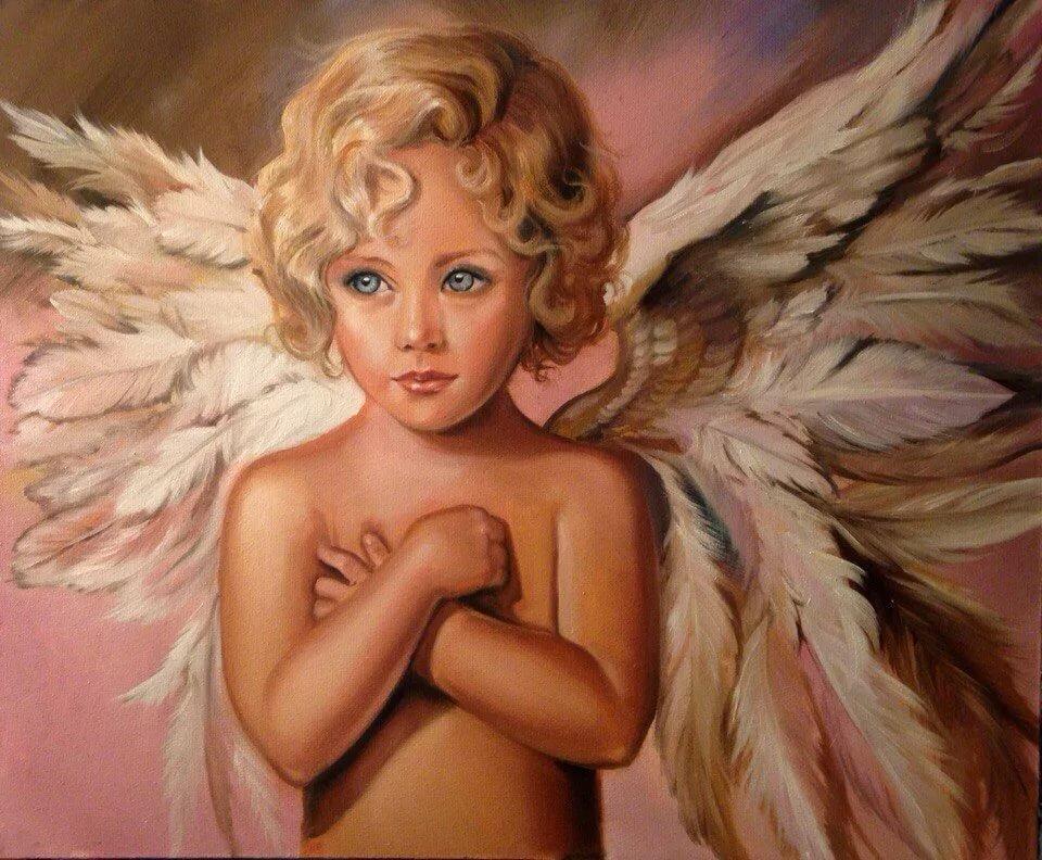 рисунки или картинки ангелов образом