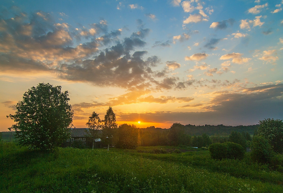 Картинки деревни летом восход