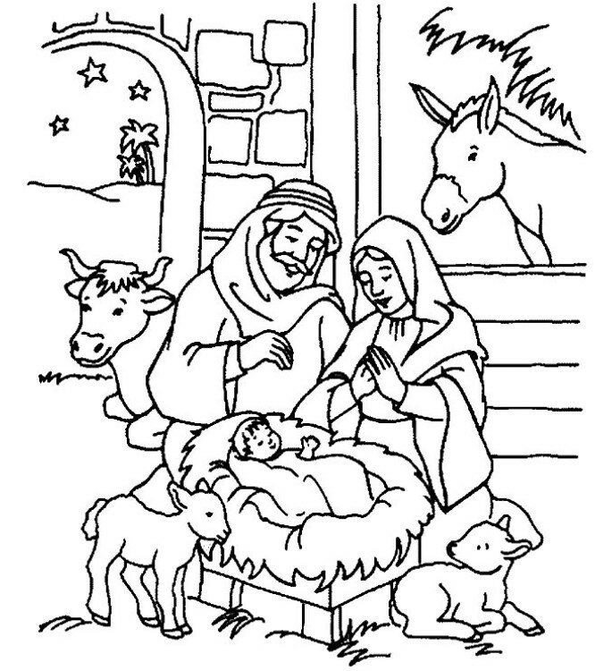 Рисунки на рождество христово для детей