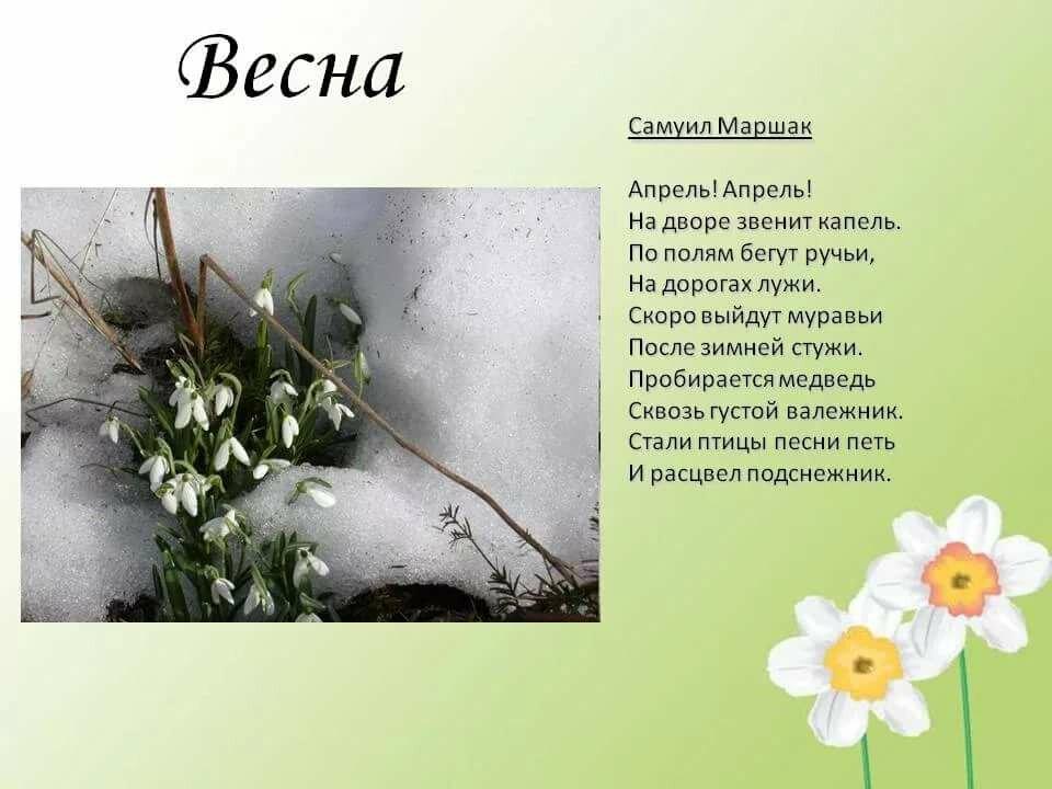 Стих про весну с картинками