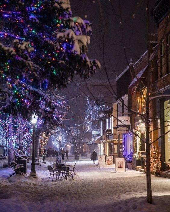 новогодние улицы в снегу картинки кроме