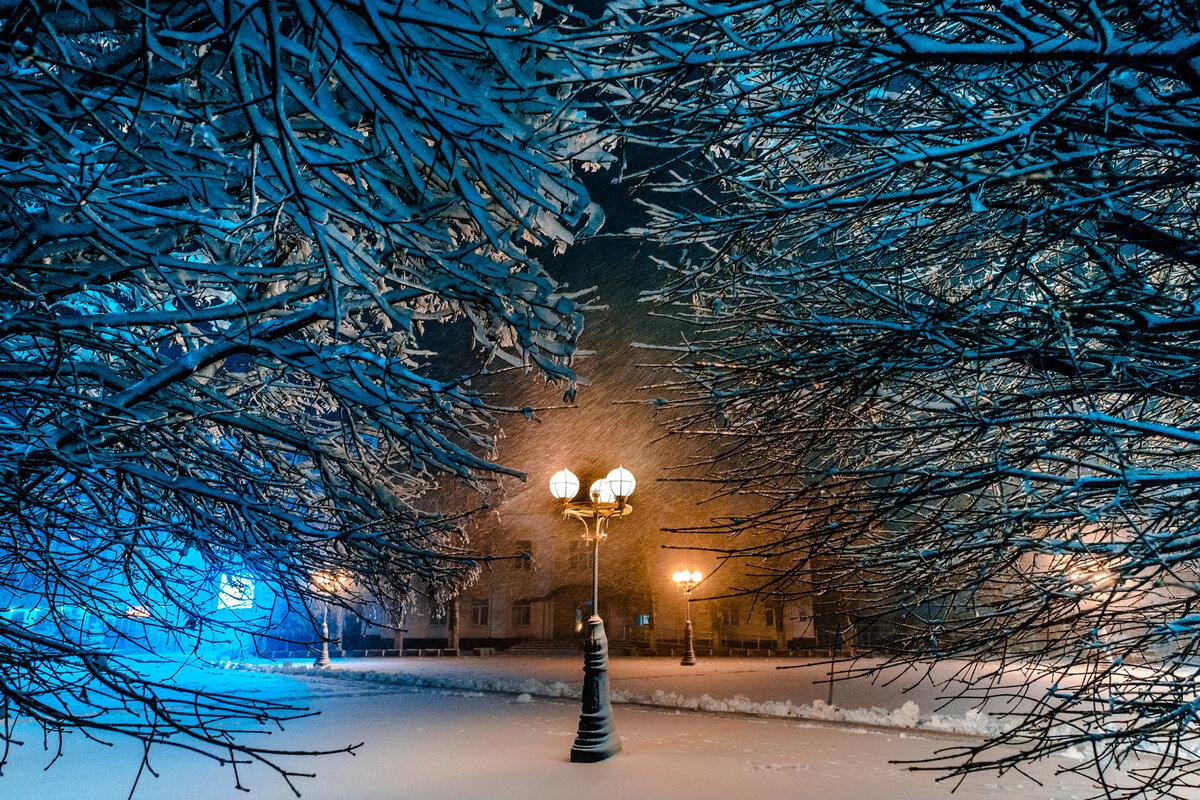 А в городе зима картинки
