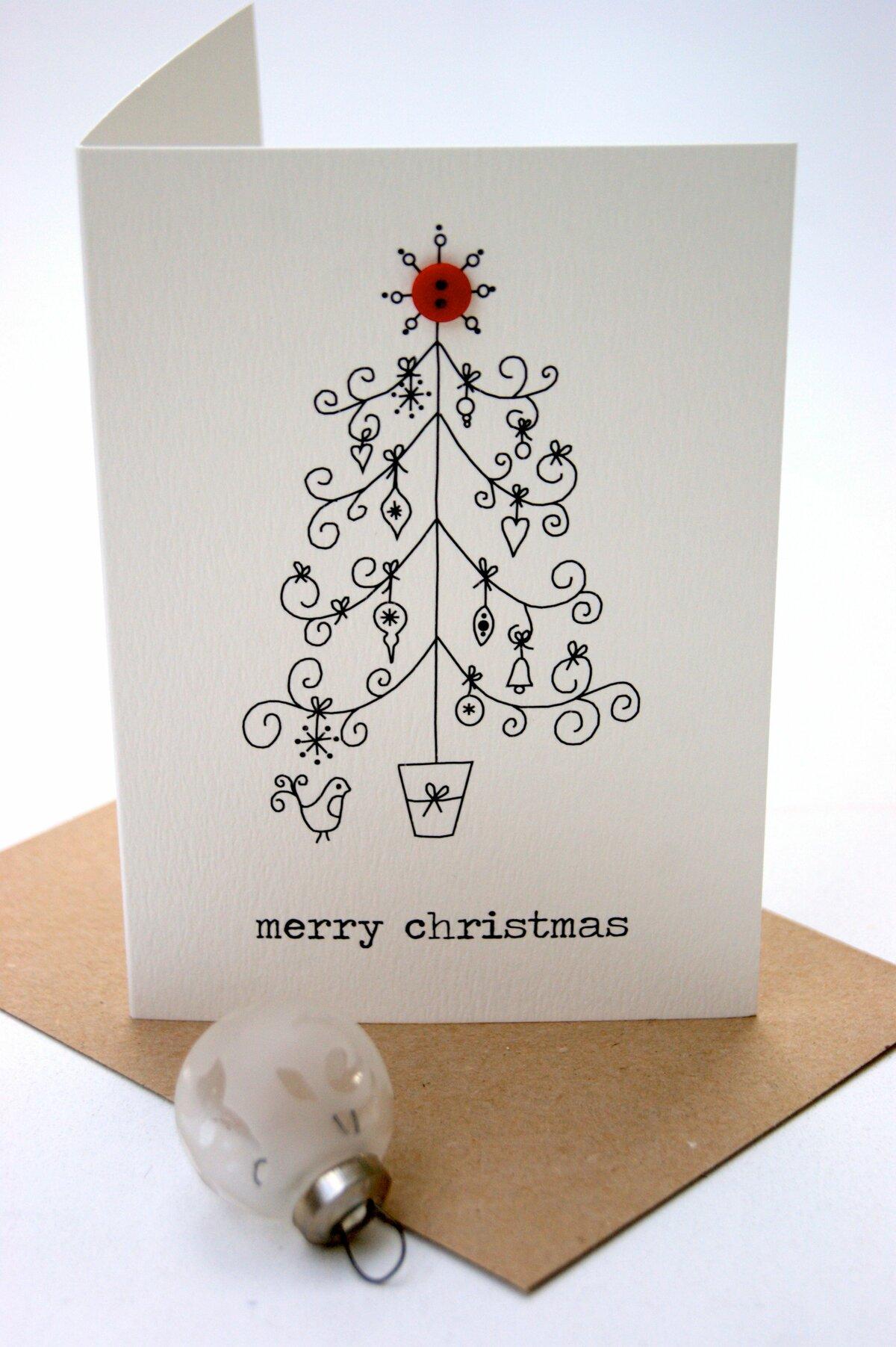 Лаконичные открытки с новым годом