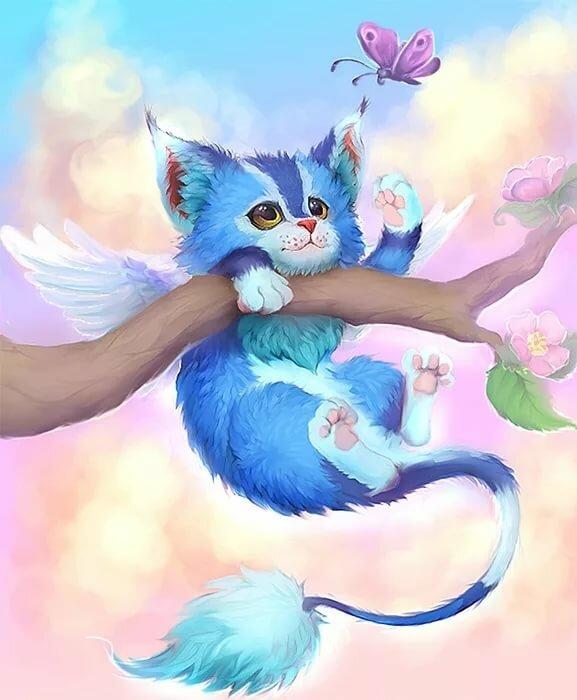выходе волшебные коты с крыльями картинки начале пешего