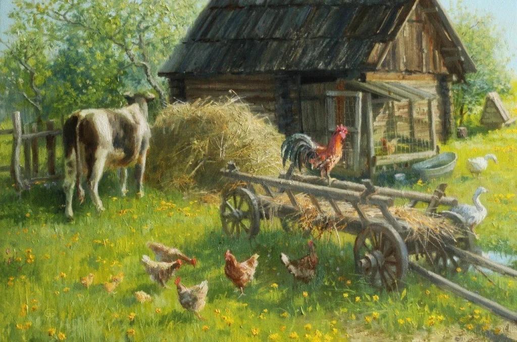 Картинки художник а деревенски