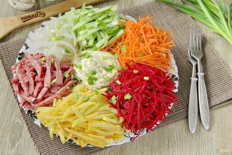 Салат перепелиное гнездо рецепт с фото пошагово это