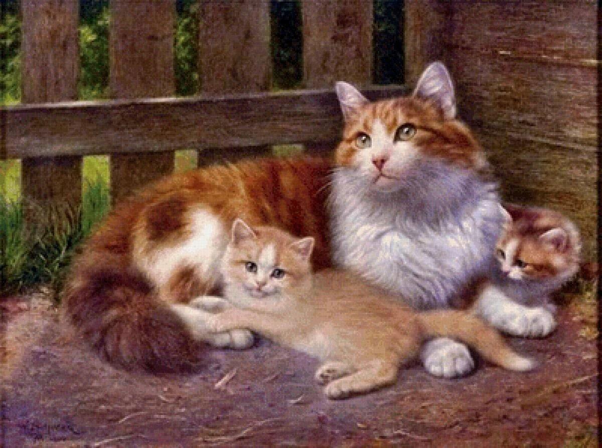 груш картинка кошка с котятами по ушаковой вызывается грибком, который