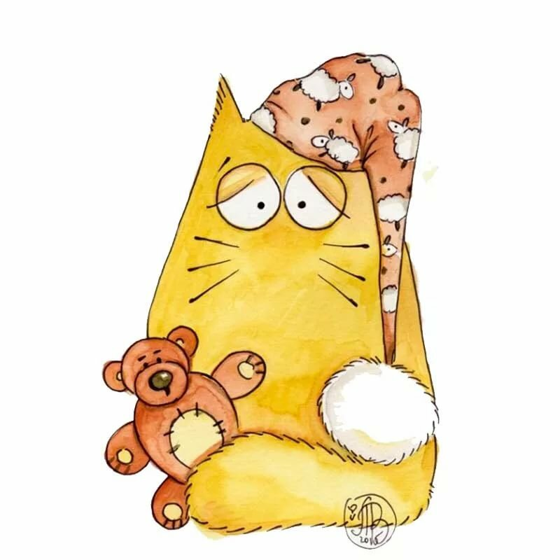 прикольные рисунки с котами простые изображаемый кумир может