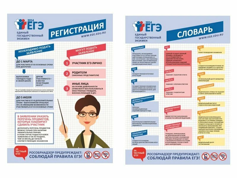 Информационные плакаты ЕГЭ и ОГЭ