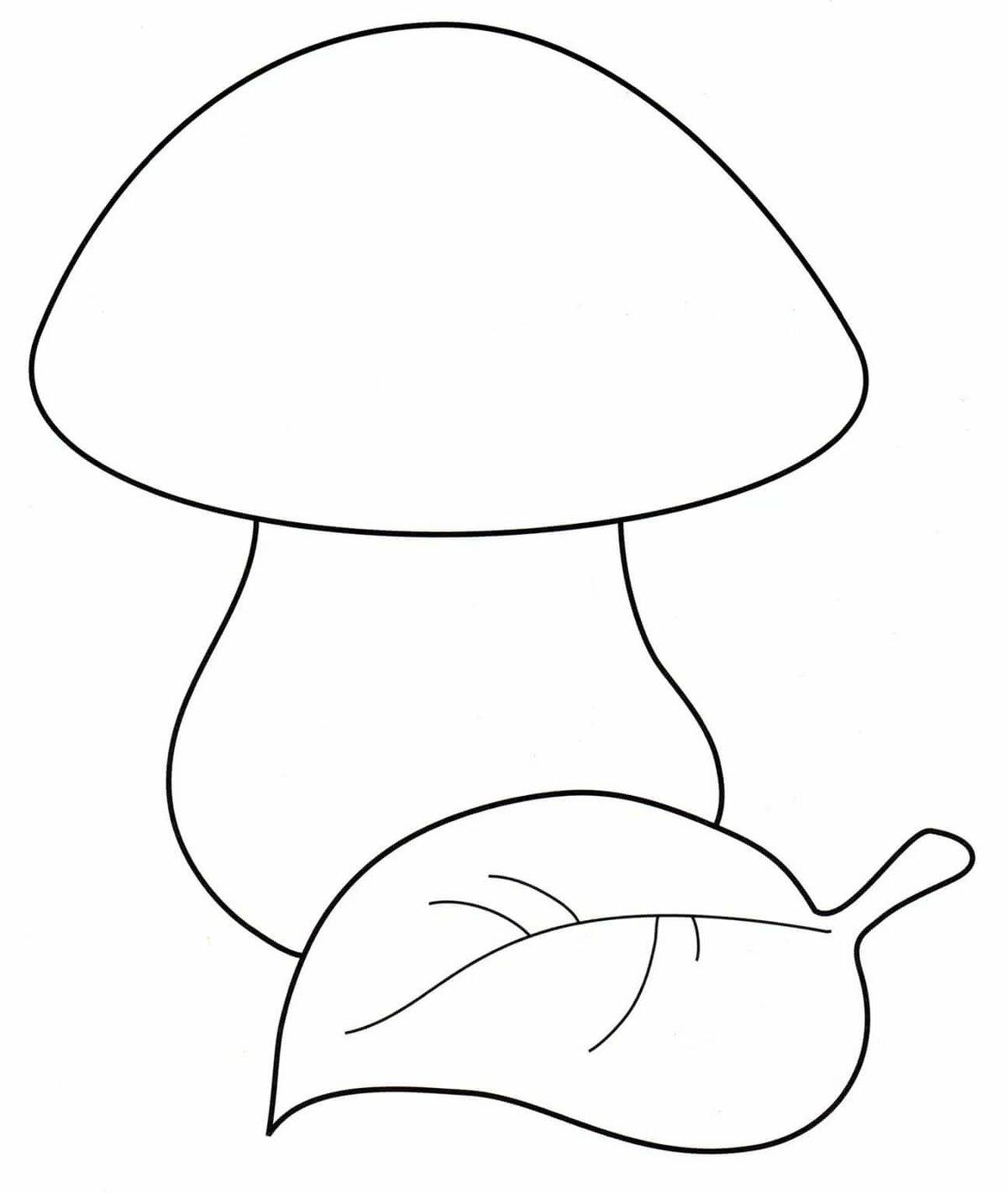 Шаблоны и картинки грибов