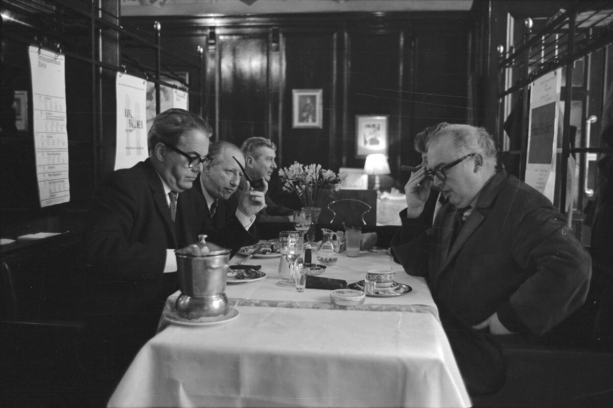 Фридрих Дюрренматт и Макс Фриш в 1963 году