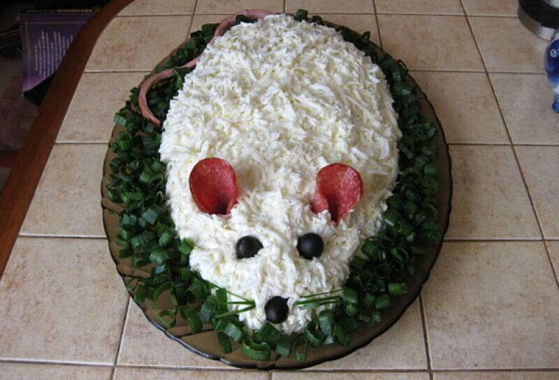салаты в виде животных рецепты с фото известный